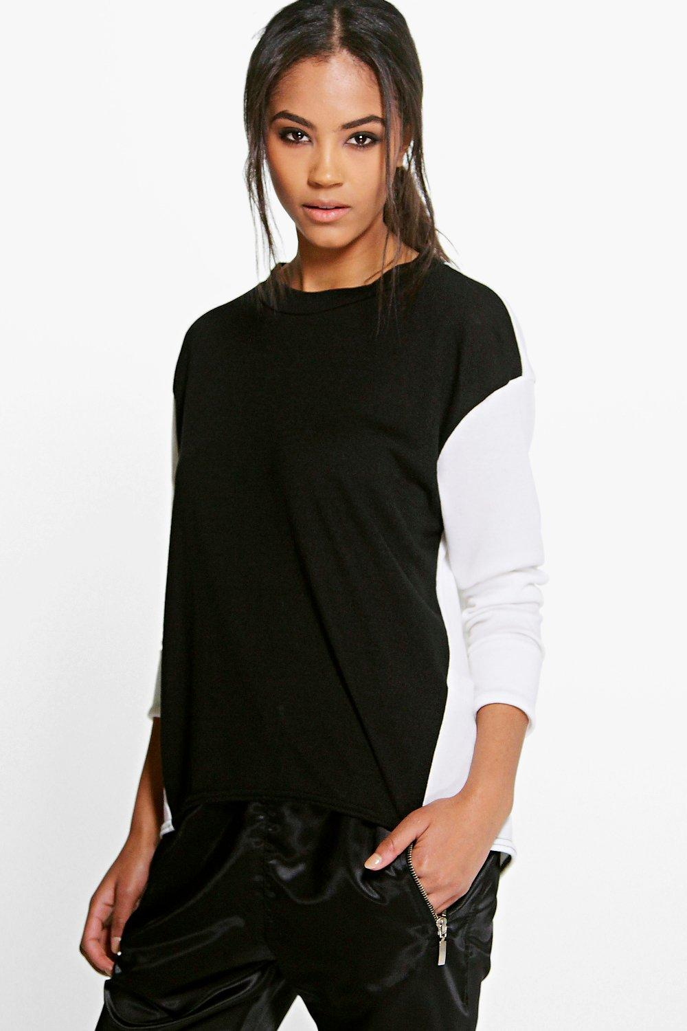 Lilly Contrast Panel Sports Jumper