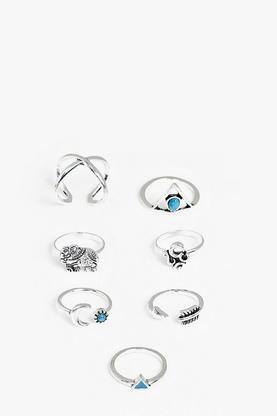 Bella Silver Moon And Stars Ring Pack