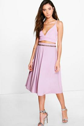Adina Bralet Box Pleat Midi Co-Ord Set