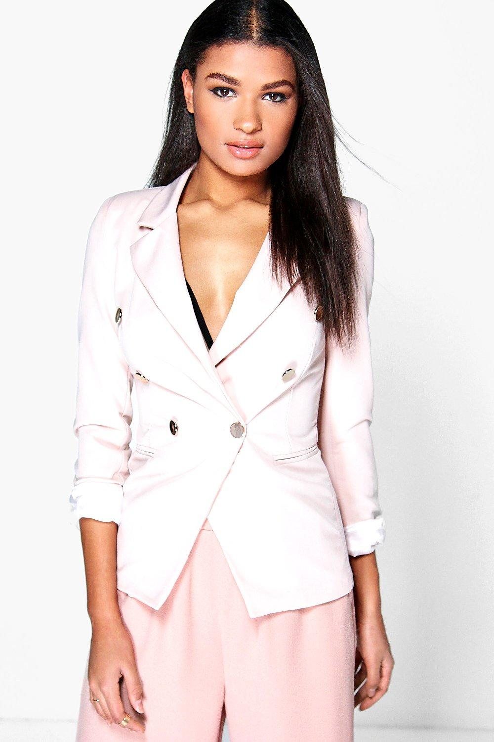 Anna Double Breasted Woven Blazer