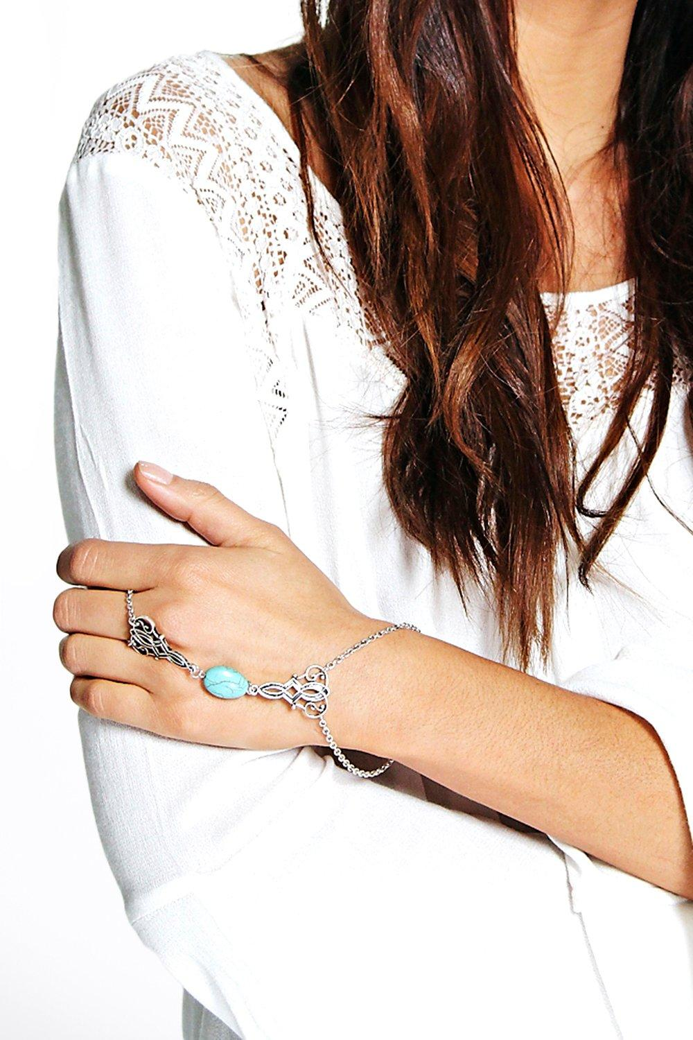 Julia Stone Detail Ring Hand Harness