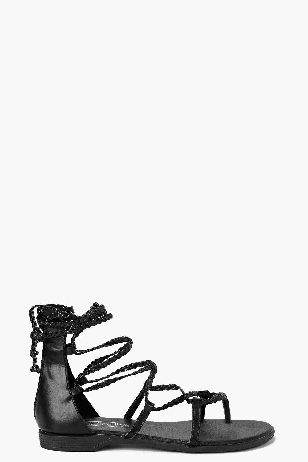 Zoe Plaited Multi Strap Sandal