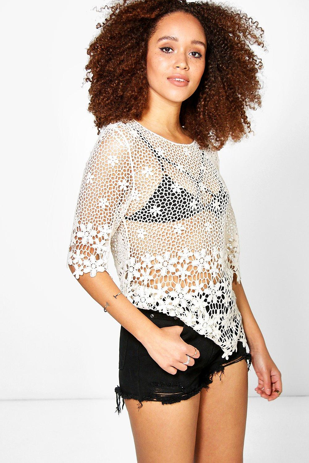 Sophie Floral Crochet Top