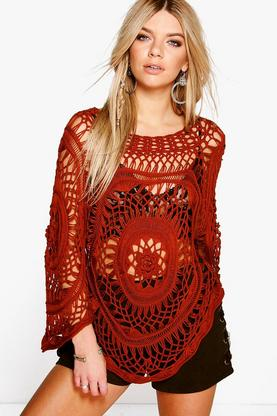 Emily Bell Sleeve Festival Crochet Cover Up