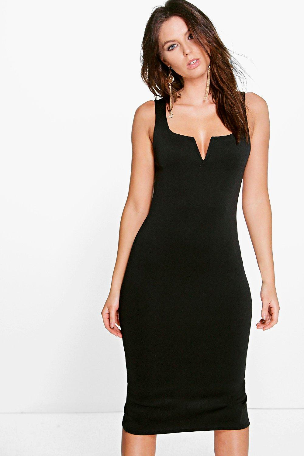 Ellie V Bar Wide Strap Bodycon Dress