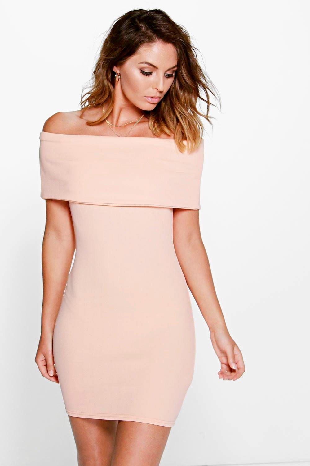 Brigitte Oversized Bardot Bodycon Dress