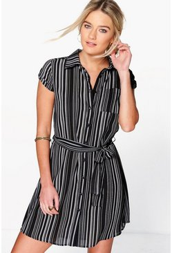 Jinny Short Sleeve Shirt Dress