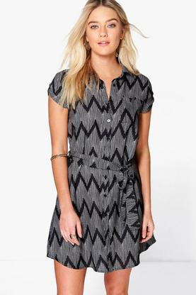 Tatiana Short Sleeve Shirt Dress