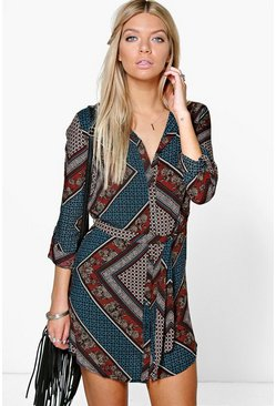 Martie Printed Shirt Dress