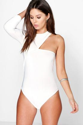 Imogen One Sleeve Slinky Bodysuit