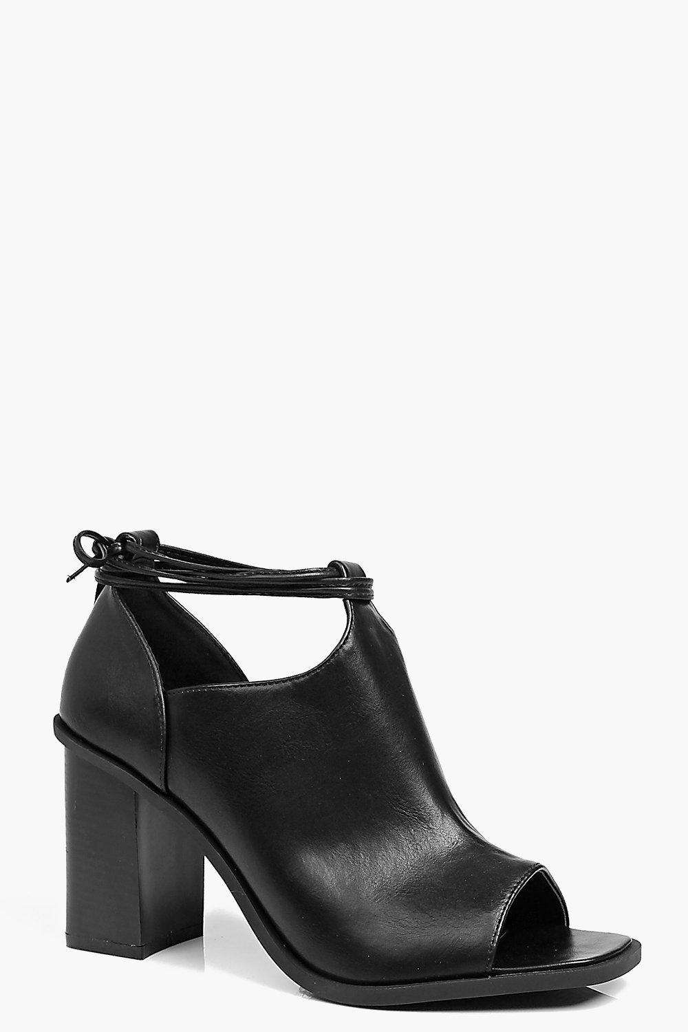 Alice Block Heel Peeptoe Shoeboot