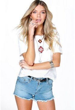 Lucy Denim Hotpants With Western Style Belt