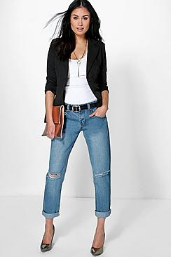 Lilly Low Rise Mid Wash Boyfriend Jeans