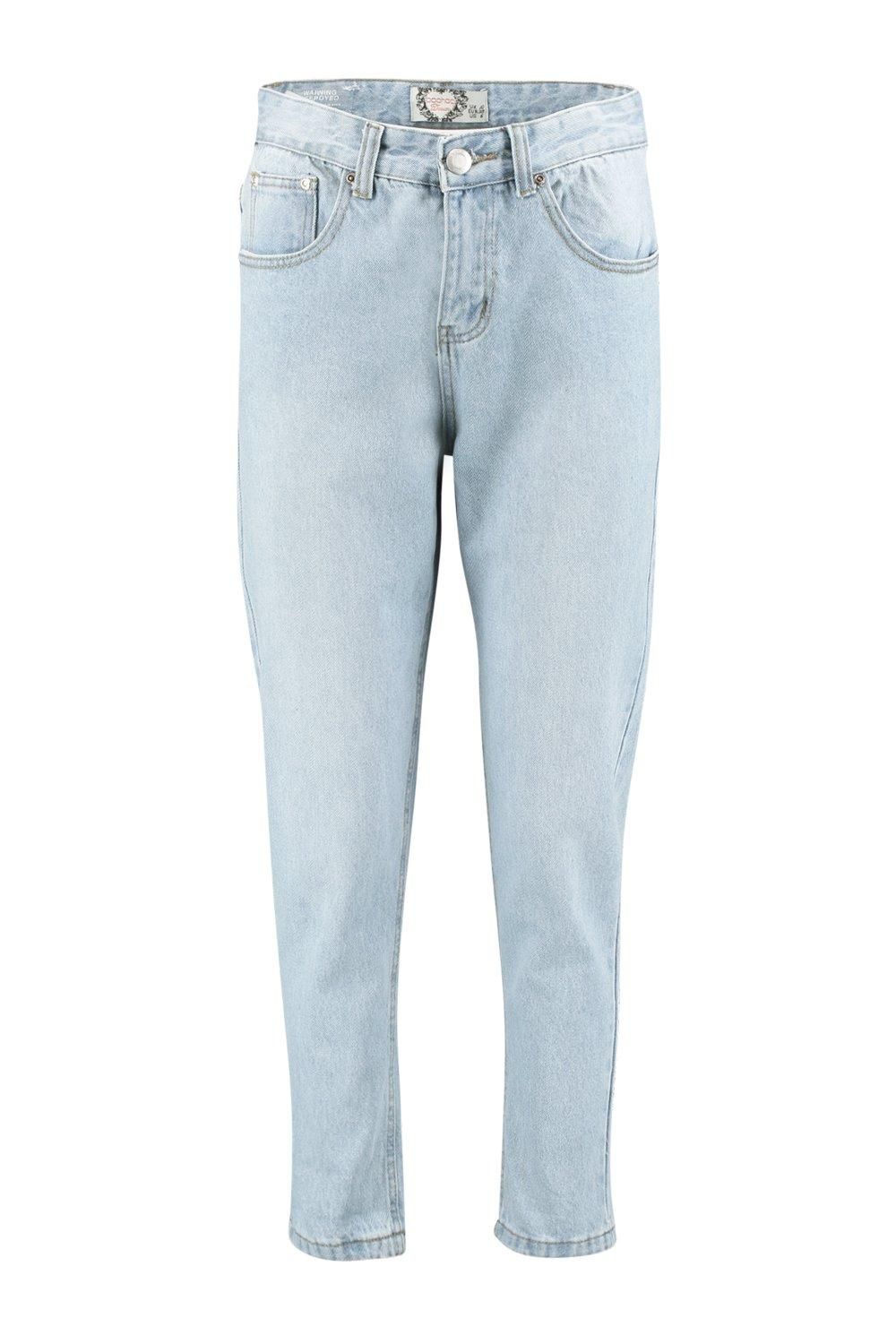 Sophie High Waisted Light Wash Mom Jeans. Hover to zoom. Close video - Sophie High Waisted Light Wash Mom Jeans Boohoo