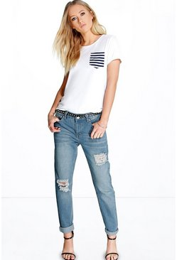 Helena Low Rise Mom Jeans Light Wash