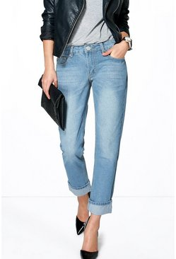 Molly Low Rise Mid Blue Mom Jeans