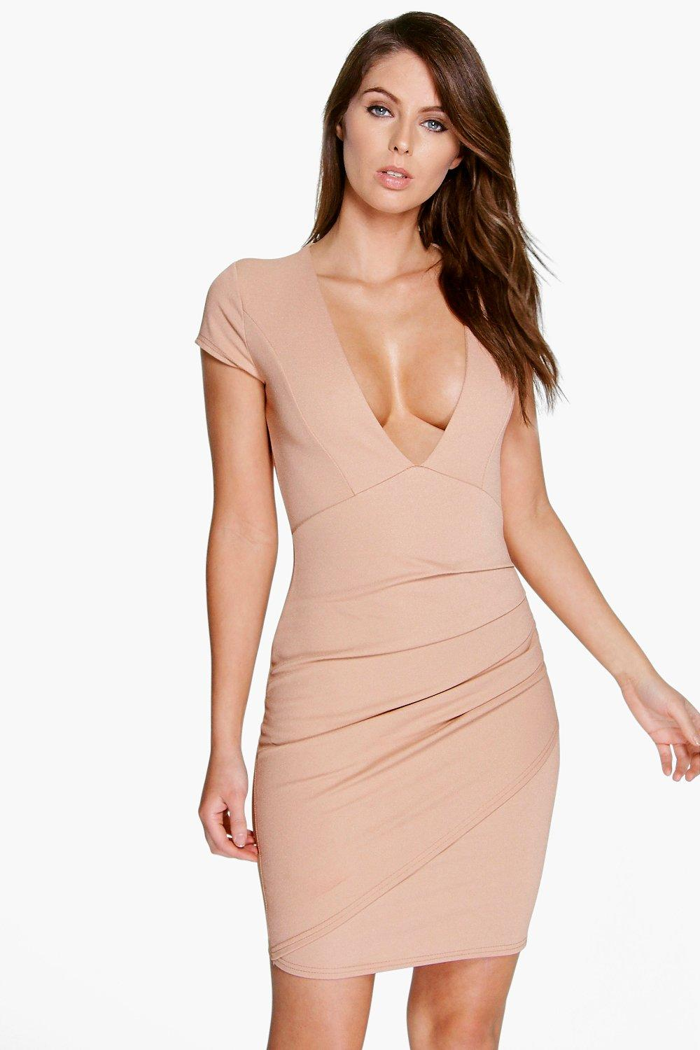 Sadie Plunge Neck Wrap Dress