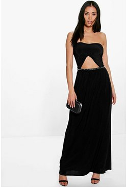 Lily Front Cut Out Bandeau Maxi Dress