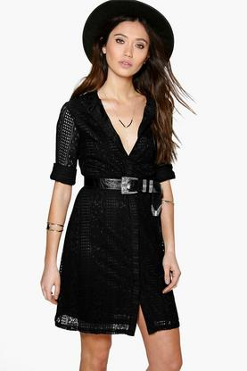 Sian Lace Shirt Dress