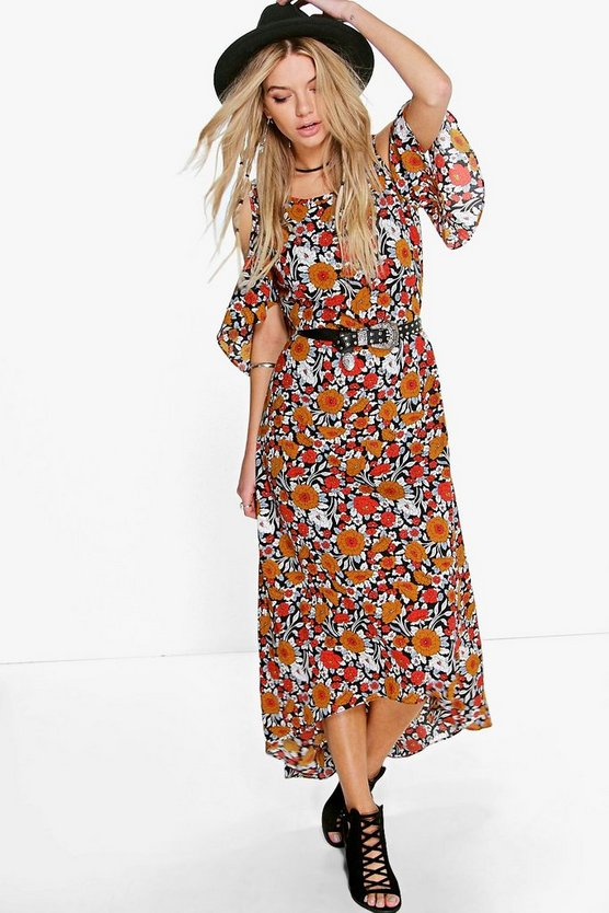 Dasdania Floral Maxi Dress