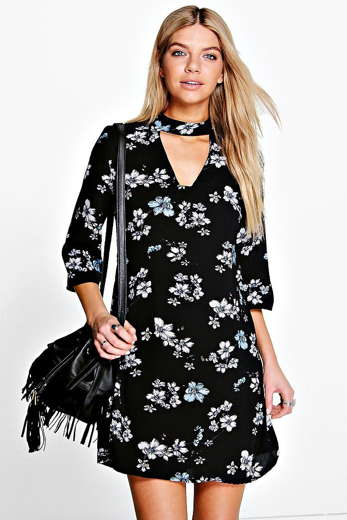 Anita Bohemia Floral Cut Out Shift Dress