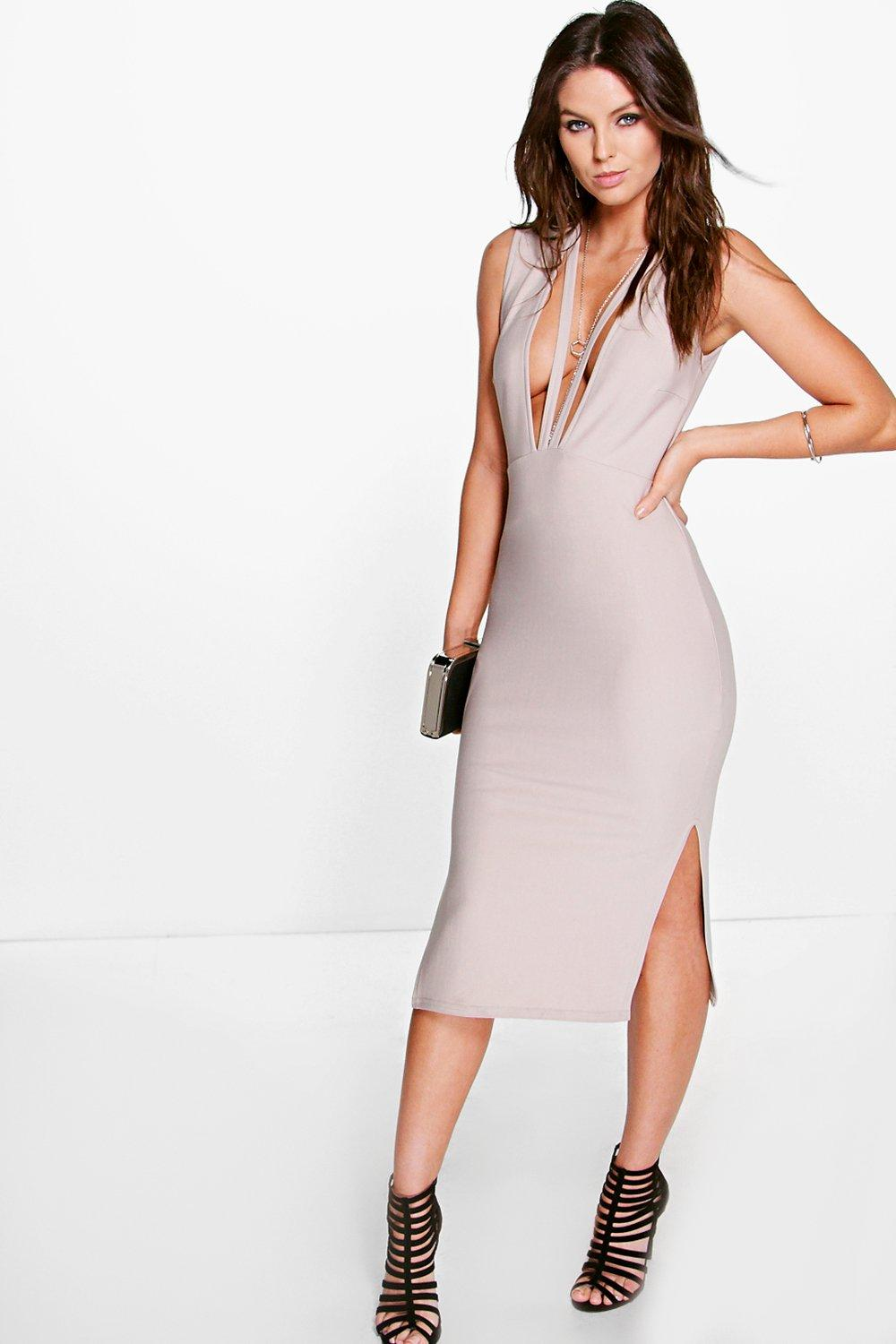 Corey Strappy Neckline Midi Dress