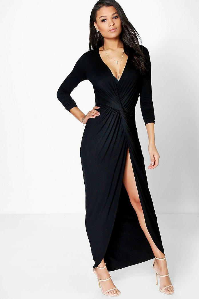 Natasha Drape Ruched Maxi Dress