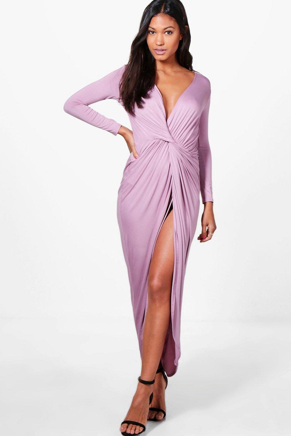 Ruching maxi dress