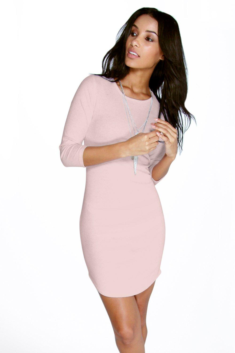 Ramy Nepp Rib Curved Hem Bodycon Dress