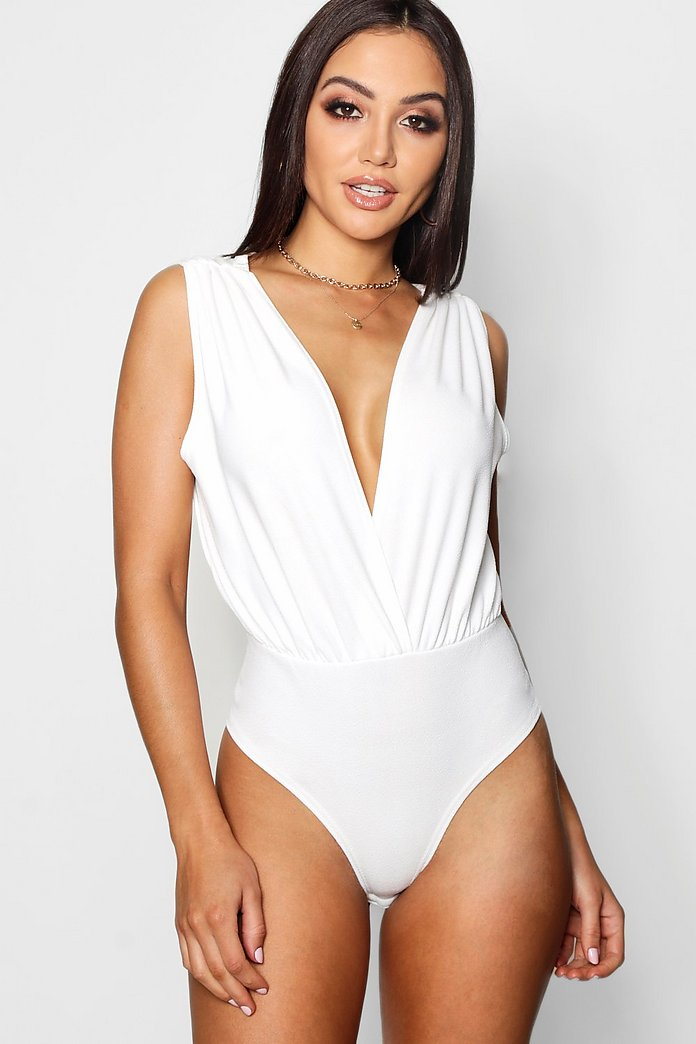 Laura Textured Deep Plunge Wrap Body