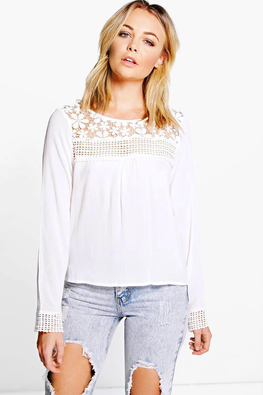 Madison Lace Crochet Blouse