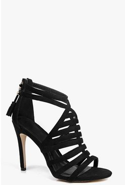 Hannah Caged Front Tassel Stiletto