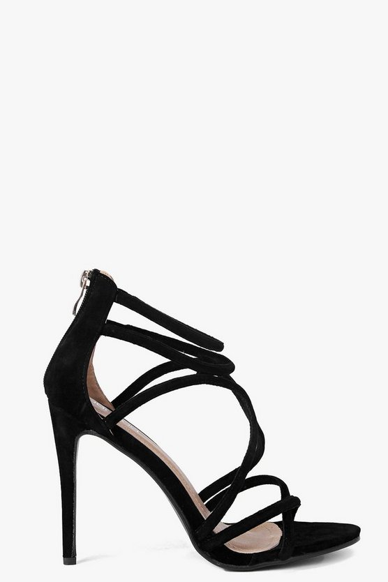 Sophia Cross Strap Caged Stiletto