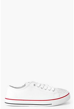 Isla Diamante Lace Up Canvas