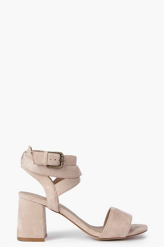 Poppy Two Part Wrap Strap Block Heels