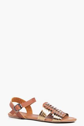 Evie Lattice Peeptoe Sandal