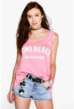 Esme Long Beach Washed Vest