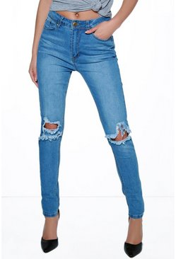 Grace Busted Knee Skinny Jeans