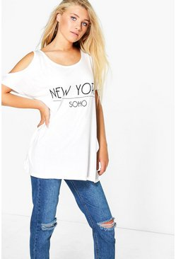 Niamh New York Cold Shoulder Tee