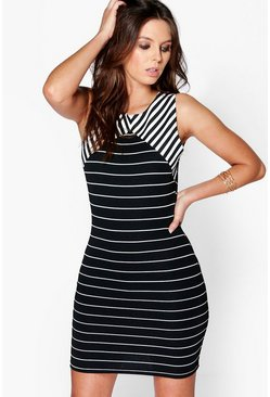 Marice Stripe Bodycon Dress