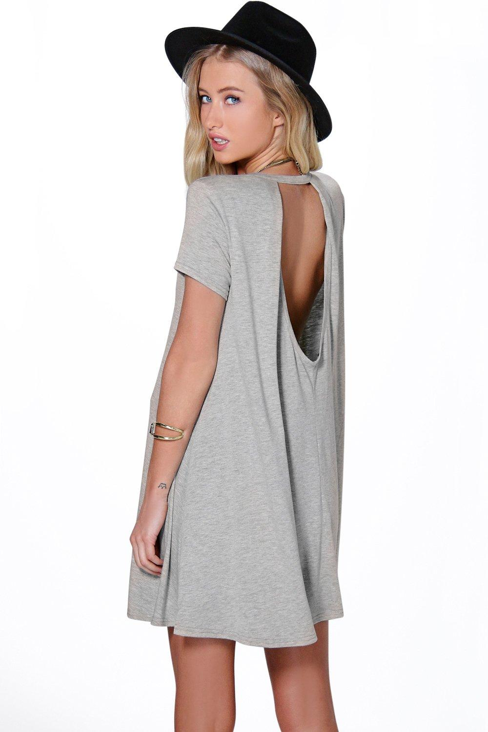 Allie Open Back Swing Dress