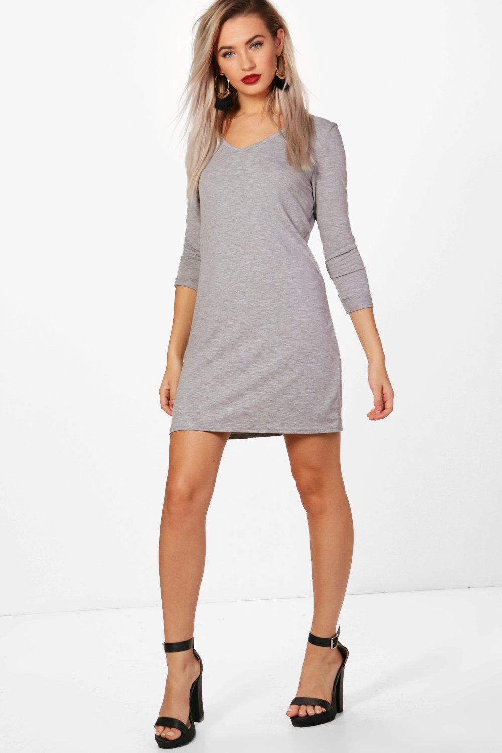 Hayley V Neck T-Shirt Shift Dress