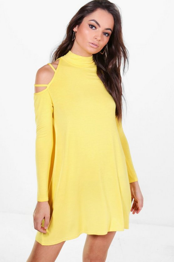 Rosamary Strappy Shoulder Swing Dress