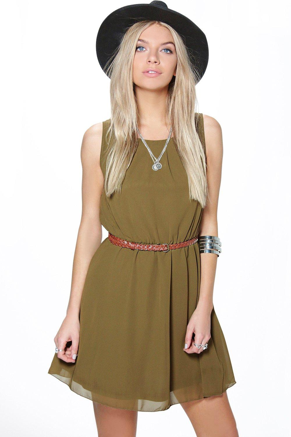 Frankie Chiffon Skater Dress