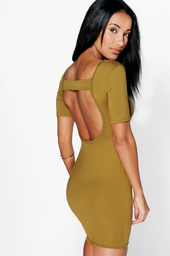 Melissa Open Back Bodycon Dress