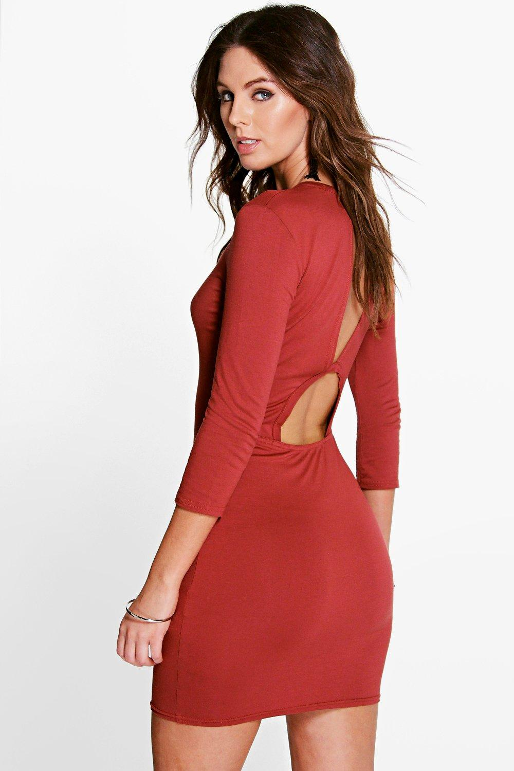 Aitana Cut Out Back Bodycon Dress
