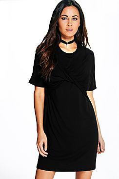 Cassandra Bow Front T-Shirt Dress