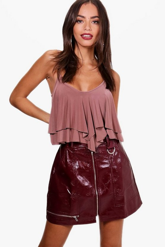 Megan Double Layer Frill Bodysuit