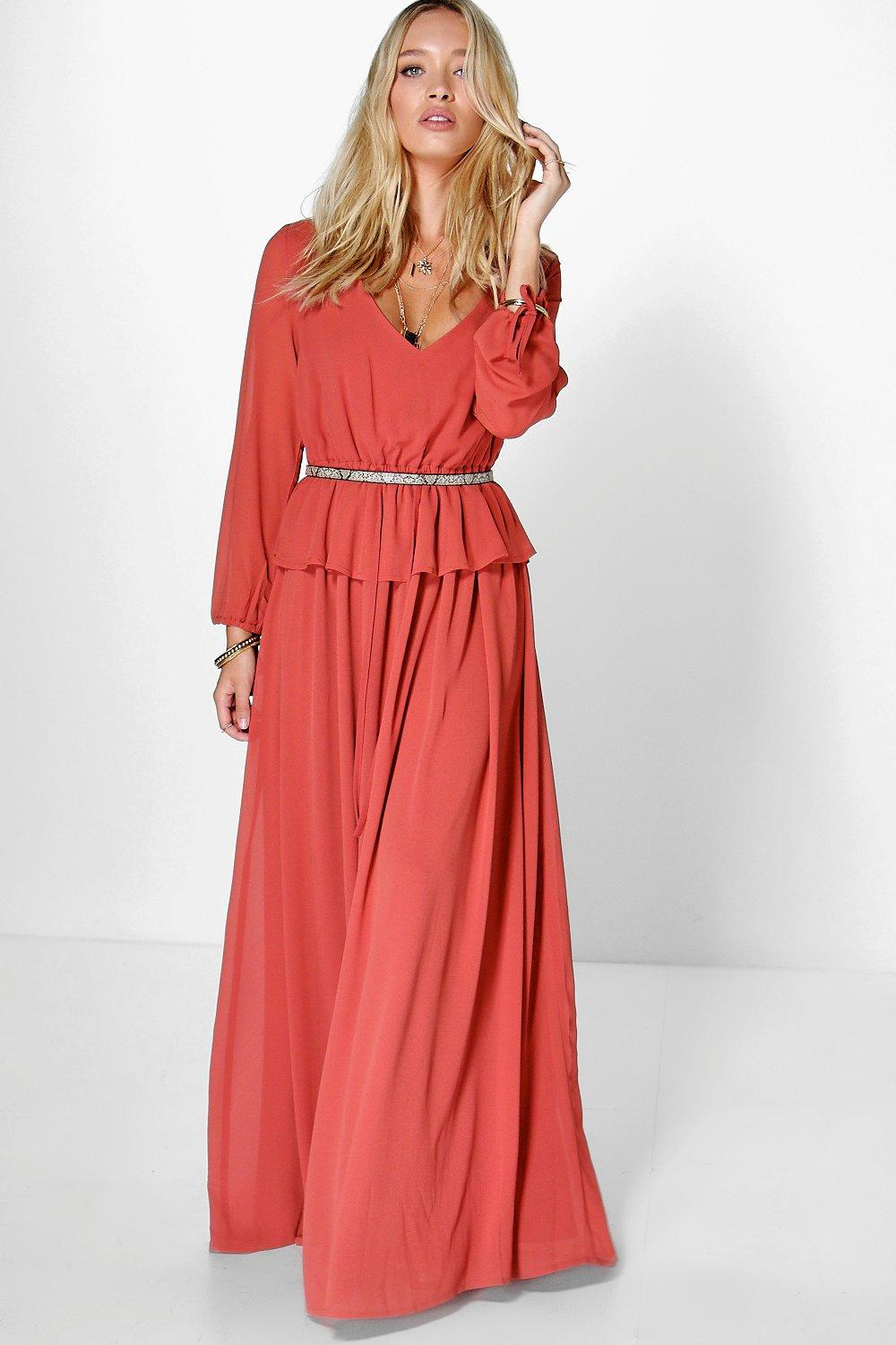 Bohemia Maxi Dress chestnut
