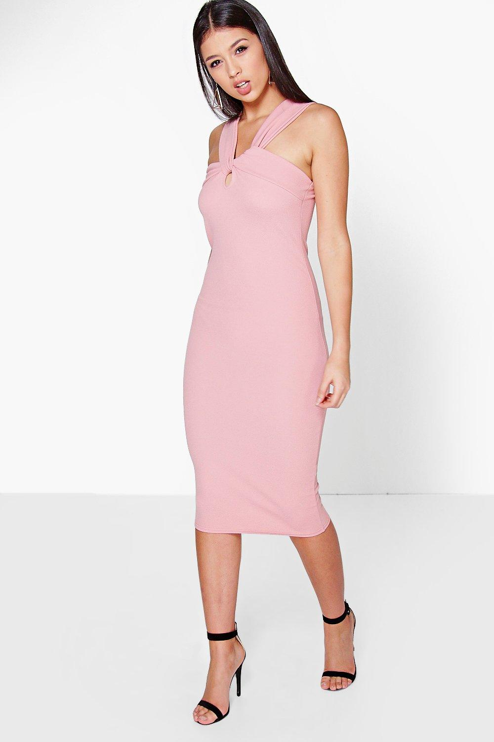 Orla Twist Front Midi Dress